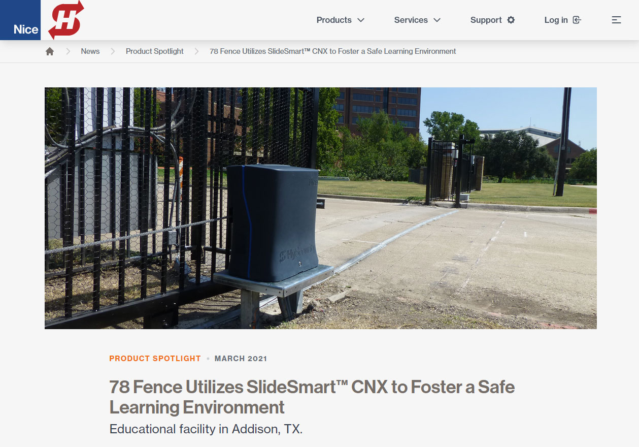 78 Fence Utilizes SlideSmart™ CNX (hysecurity.com)