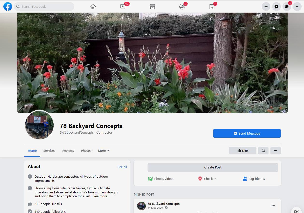78 Backyard Concepts on Facebook