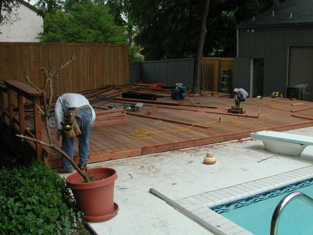 Redwood Deck With Railing