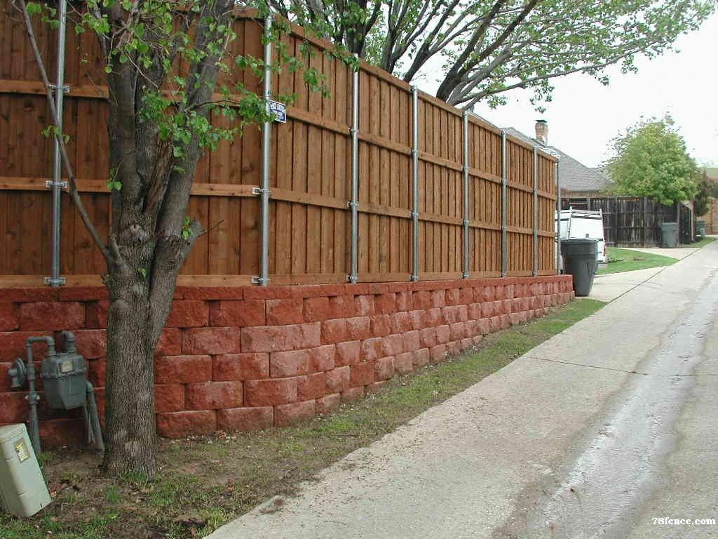 Pre-stained Cedar Fence