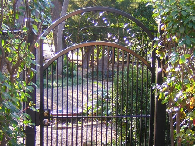 Scrolled Arch Gate