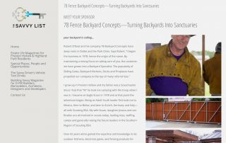 Turning Backyards Into Sanctuaries (thesavvylist.com)